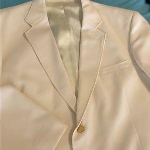 Men's Stafford luxurious cream jacket+gold button